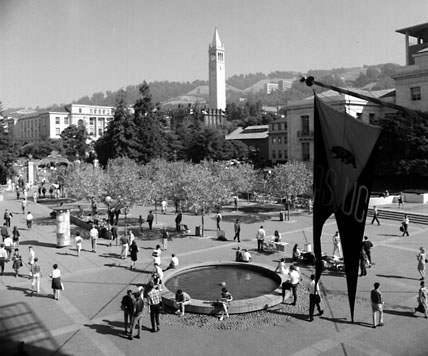 Plaza north of student union, September, 1966