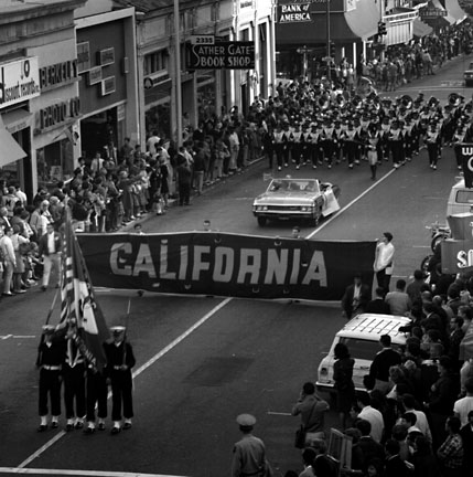 Pre-football game parade, November, 1966