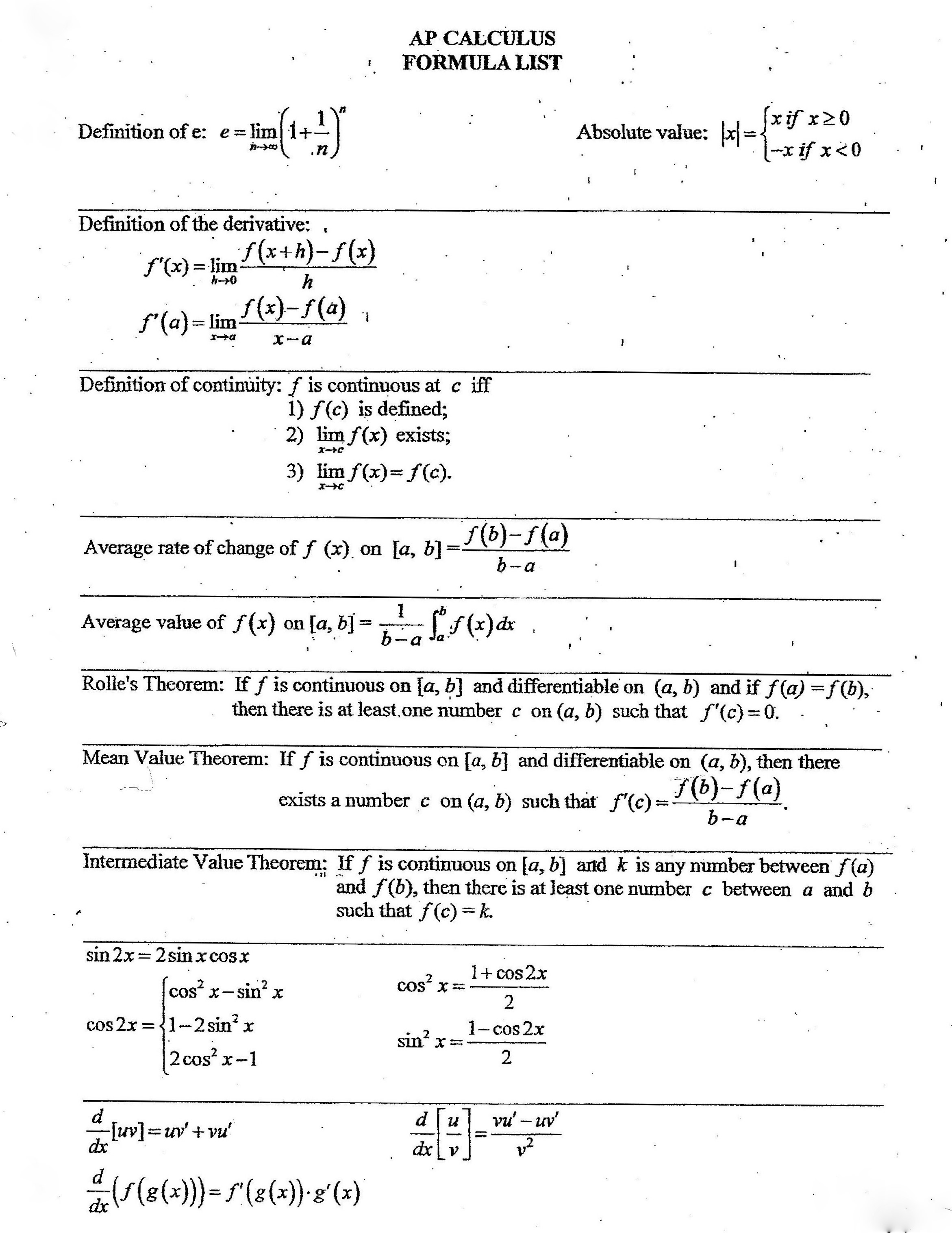 math formula sheet For a complete set of online algebra notes visit algebra cheat sheet distance formula if p1= (xy11,) and p2= (xy22,.