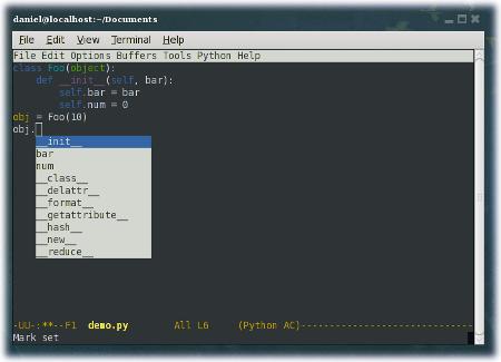 Emacs Autocomplete
